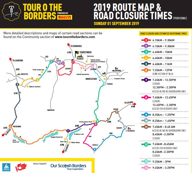 TOTB Road Closures 2019